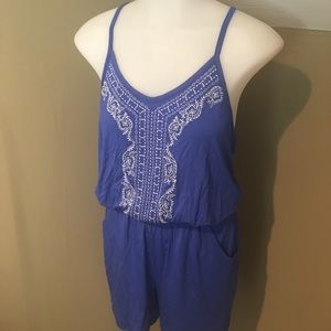 New Infinity Women's Royal Blue Romper Shorts SZ M